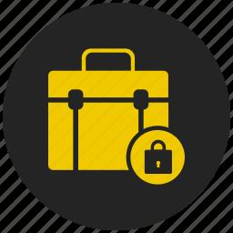 anti virus, briefcase, lock, safe, safety, security, sheild icon