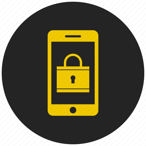 locked mobile phone, mobile password, password protected mobile, secured mobile icon