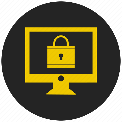 antivirus, desktop, lcd monitor, monitor, password protected, pc, personal computer icon