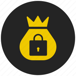 bank, coin bag, dollars, finance, locker, money, savings icon