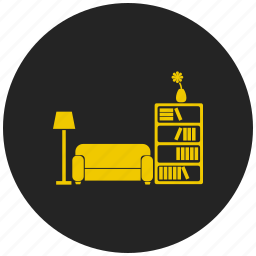 furniture, home, house, households, interior, living room, sofa icon
