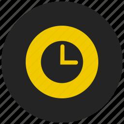 alarm, alert, clock, time, timer, wall clock, watch icon