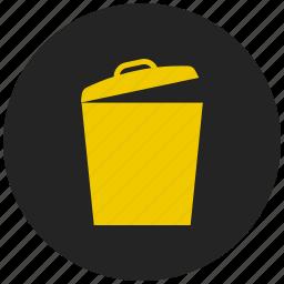 basket, delete, garbage, recycle bin, remove, trash, waste icon