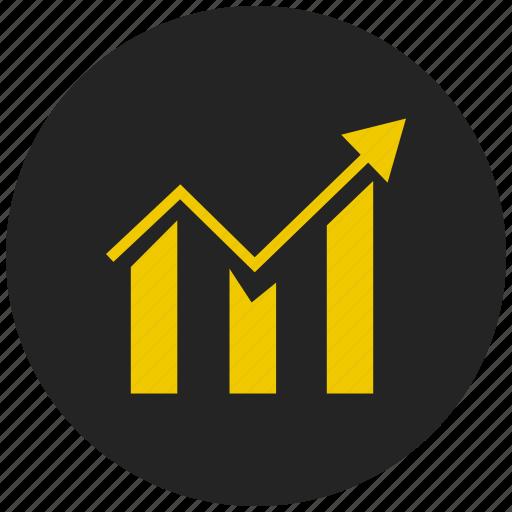 bar chart, bar graph, dashboard, inflation, report, statistics, trend icon