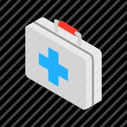 aid, box, case, first, hospital, isometric, medicine icon