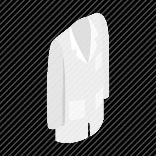 coat, doctor, isometric, iwhite, medical, professional, uniform icon