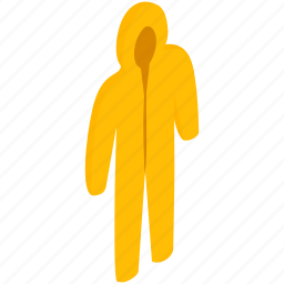 chemical, hazard, isometric, protection, protective, safety, suit icon