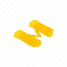 glove, hand, isometric, protection, protective, rubber, safety icon