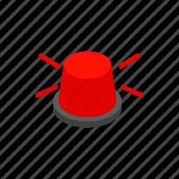 beacon, bulb, danger, isometric, light, siren, urgency icon