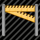 barrier, traffic, car, transport
