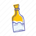 beach, bottle, nature, ocean, sea, water icon