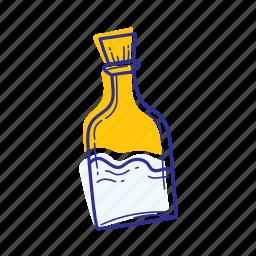beach, bottle, nature, ocean, sea, water icon