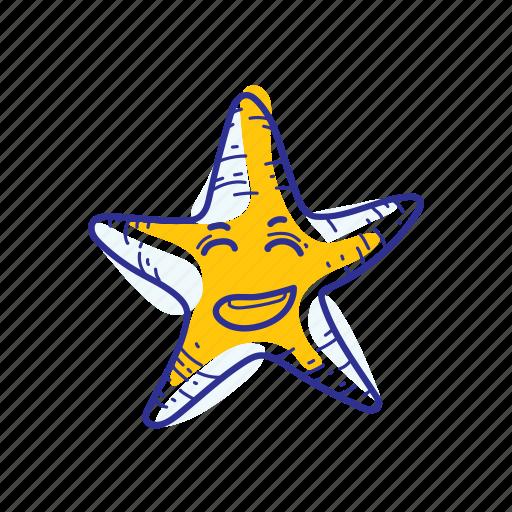 animal, happy, nature, ocean, sea, starfish icon