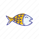 animal, dinner, fish, fishing, nature, ocean, sea icon