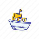 boat, maritime, ocean, sea, ship, transportation icon