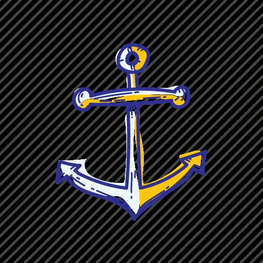 anchor, beach, ocean, sea, ship, water icon