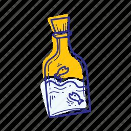 animal, bottle, fish, nature, ocean, sea icon