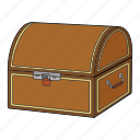 box, chest, gold, treasure icon