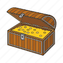 chest, golden chest, pirates, treasure icon