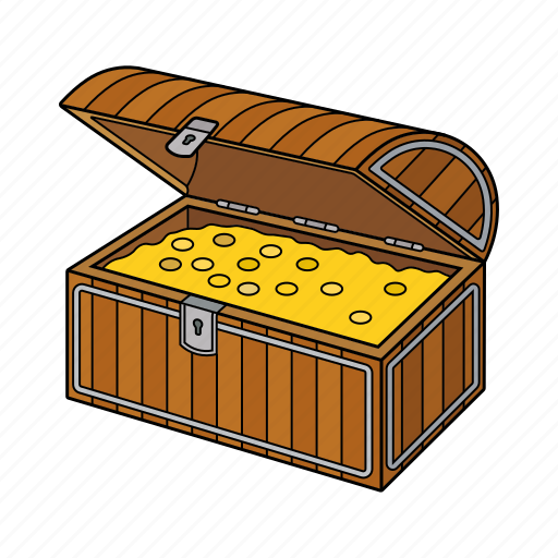 Chest, golden chest, pirates, treasure icon - Download on Iconfinder