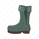 boot, sailor boot, walk, wear icon