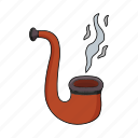 pipe, seaman, smoke, wooden pipe icon
