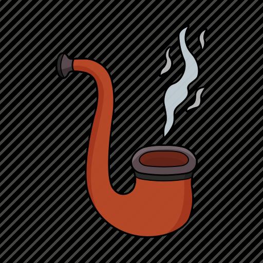 pipe, seaman, smoke, wooden pipe icon