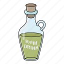 alchol, drink, rum bottle, rum drink icon