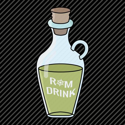 alchol, drink, rum bottle, rum drink icon