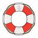 life buoy, safe, sea, sink icon