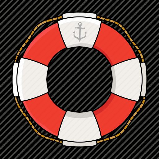 life buoy, safe, sea, sink icon