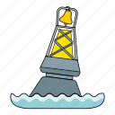 buoy, equapment, item, light guide, sea icon