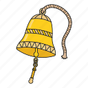 bell, ring, sea, ship's bell icon