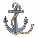 anchor, boat, sea, ship icon