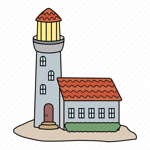 Island, light guide, lighthouse, sea icon - Download on Iconfinder