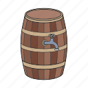 barrier, beer, wine, wooden barrier icon