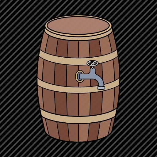 Barrier, beer, wine, wooden barrier icon - Download on Iconfinder