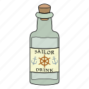 alchol, bottle, drink, glass icon