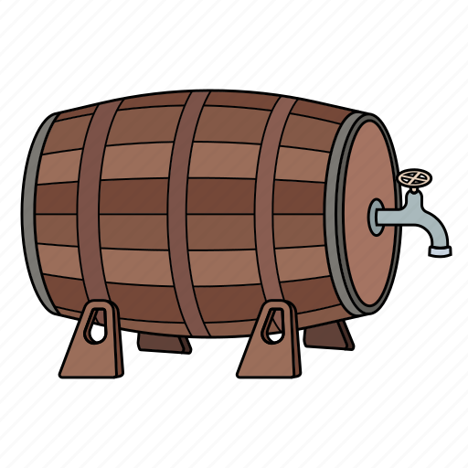barrell, beer, drink, wine icon