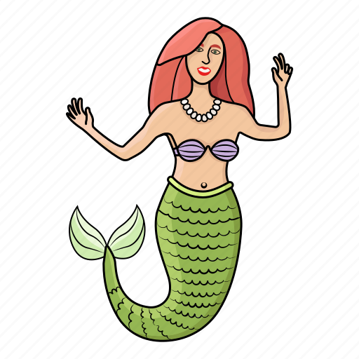 girl, mermaid, princess, sea icon