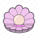 delight, pearl, sea, treasure icon