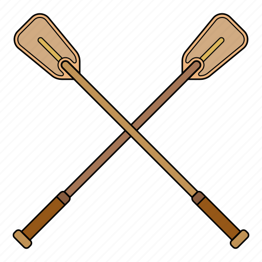 Oars, paddle, row, wooden oar icon - Download on Iconfinder