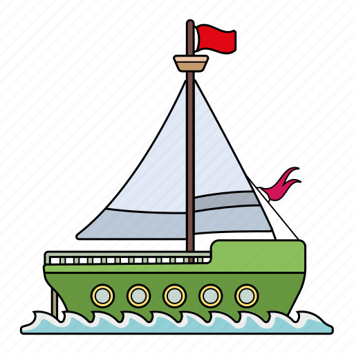 board, sail, ship, travel icon