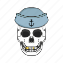 bone, sailor skull, sea, skull