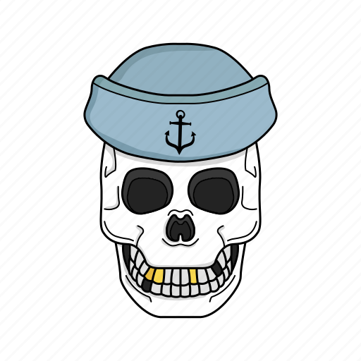 bone, sailor skull, sea, skull icon
