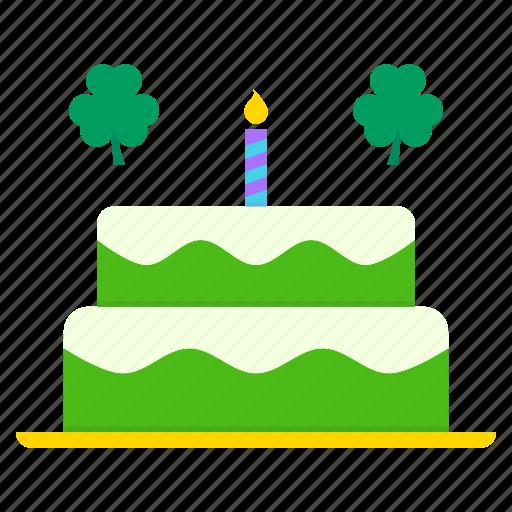 Cake, celebrate, day, festival, patricks, saint, sweet icon - Download on Iconfinder