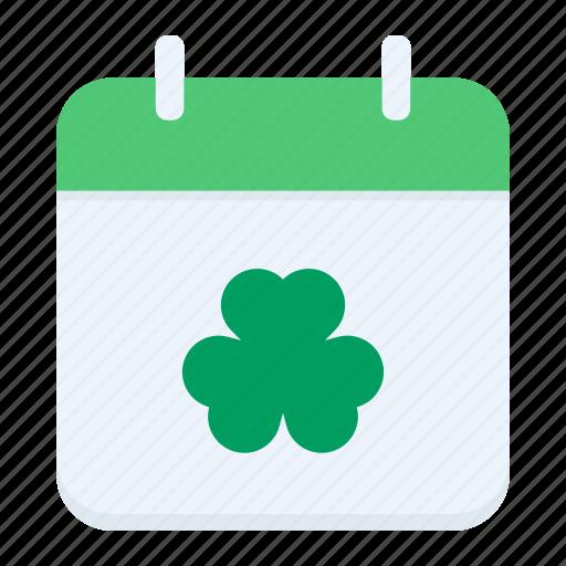 Calendar, date, day, festival, patricks, saint, shamrock icon - Download on Iconfinder