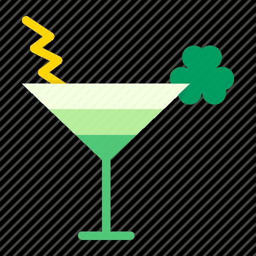 Cocktail, day, drink, mocktail, patricks, saint, shamrock icon - Download on Iconfinder