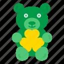 bear, day, gift, patricks, saint, shamrock, teddy icon