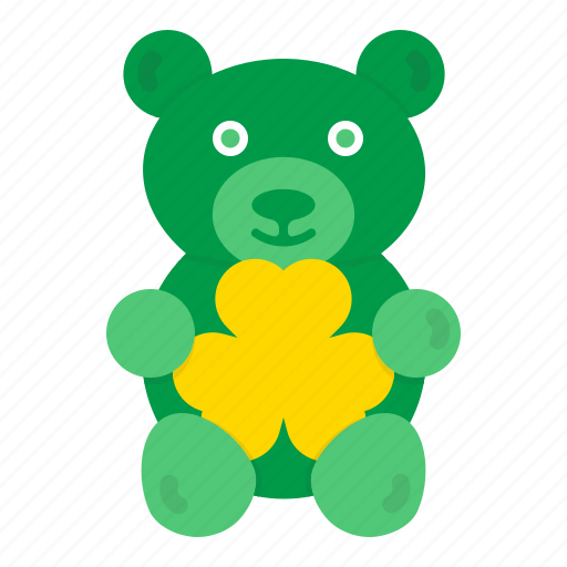 Bear, gift, shamrock, teddy, hygge, saint patrick's day icon - Download on Iconfinder